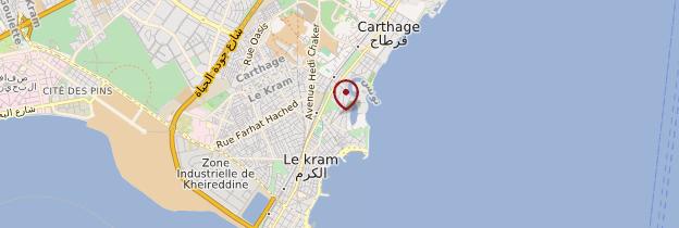 Carte Tophet de Carthage - Tunisie