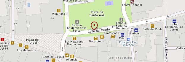 Carte Plaza de Santa Ana - Madrid