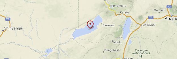 Carte Lac Eyasi - Tanzanie