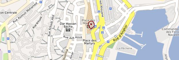 Carte Place des Martyrs - Algérie