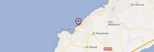 Carte Bouzedjar - Algérie