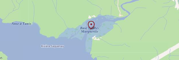Carte Baie Sainte-Marguerite - Québec