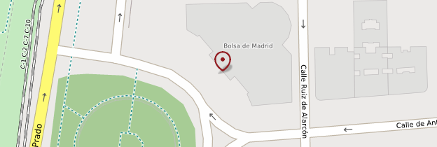 Carte Bourse de Madrid - Madrid