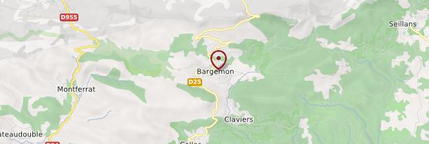 Carte Bargemon - Côte d'Azur