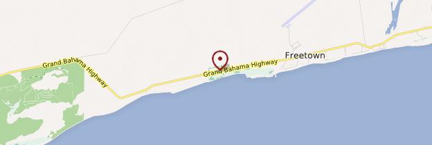 Carte Parc national de Lucayan - Bahamas