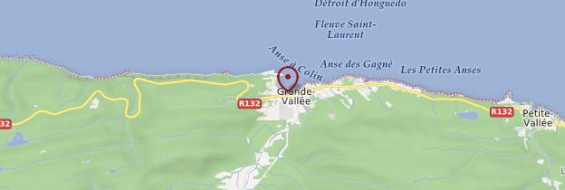 Carte Grande-Vallée - Québec