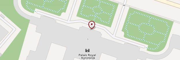 Carte Palais royal - Bruxelles
