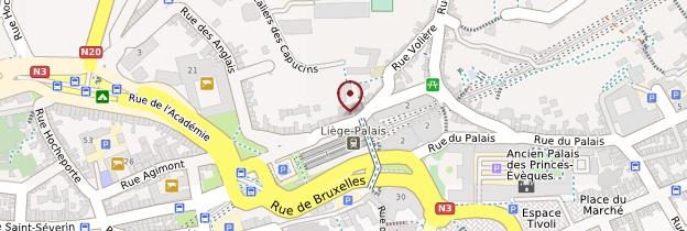 Carte Gare de Liège-Palais - Belgique