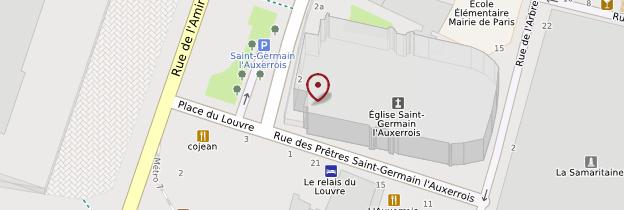 Carte Église Saint-Germain-l'Auxerrois - Paris
