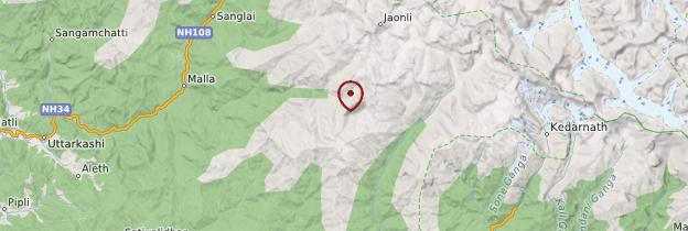 Carte Gangotri - Inde
