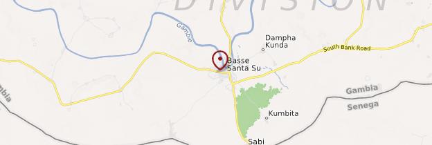 Carte Basse Santa Su - Gambie