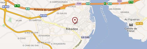 Carte Ribadeo - Espagne