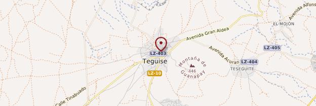 Carte Teguise - Lanzarote