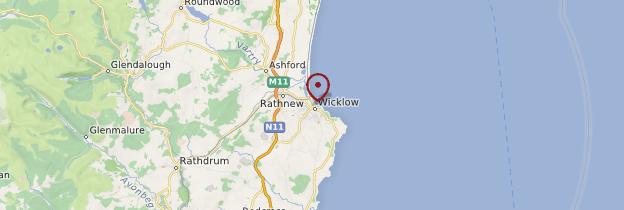 Carte Wicklow (Cill Mhantáin) - Irlande