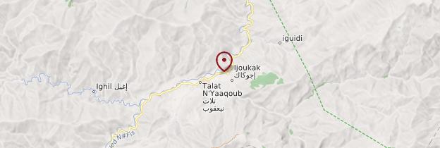 Carte Ijoukak - Maroc