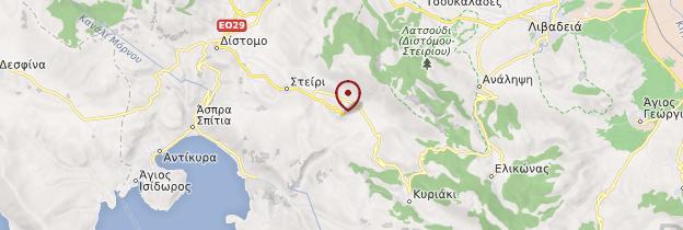 Carte Ossios Loukas - Grèce