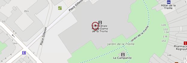 Carte Cathédrale Notre-Dame-de-la-Treille - Lille