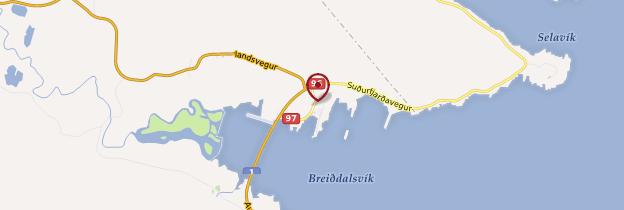 Carte Breiðdalsvík - Islande