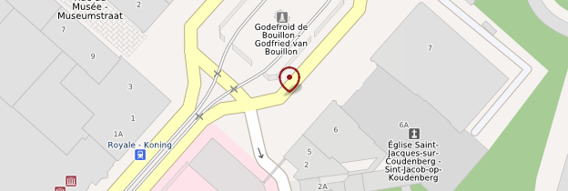 Carte Eglise Saint-Jacques-sur-Coudenberg - Bruxelles