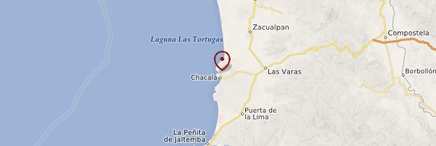 Carte Chacala - Mexique
