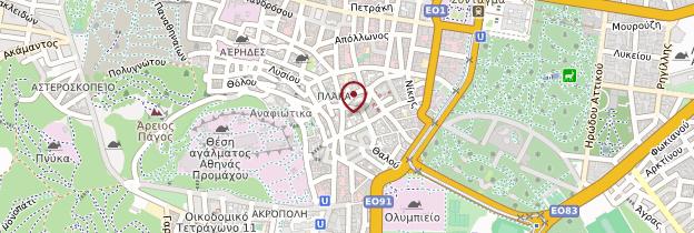 Carte Quartier de Plaka - Athènes