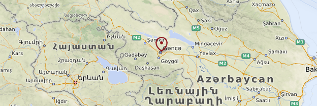 Carte Gandja - Azerbaïdjan
