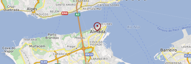 Carte Almada - Portugal