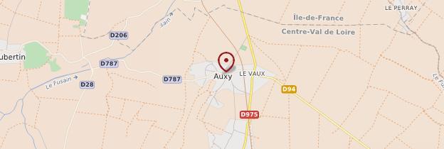 Carte Auxy - Châteaux de la Loire