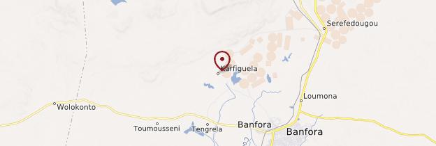 Carte Chutes d'eau de Karfiguéla - Burkina Faso