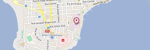 Carte Palais présidentiel - Dakar