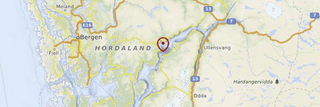 Carte Hardangerfjord - Norvège