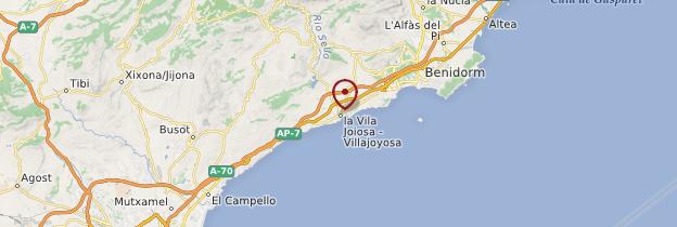 Carte Villajoyosa - Espagne
