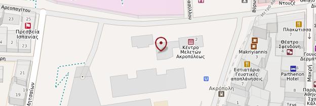 Carte Musée de l'Acropole - Athènes