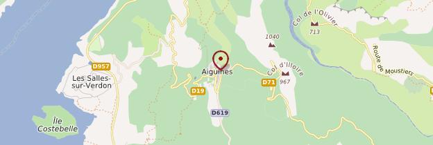 Carte Aiguines - Côte d'Azur