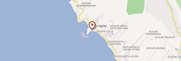 Carte Batu Bolong - Indonésie