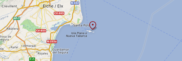Carte Isla de Tabarca - Espagne