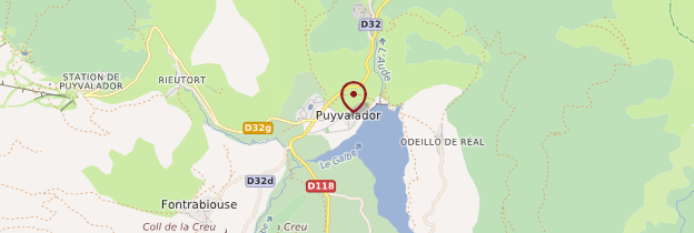 Carte Puyvalador - Languedoc-Roussillon