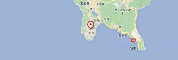 Carte Parc national de Kenting - Taiwan