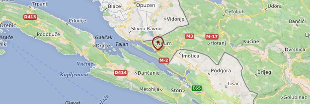 Carte Neum - Bosnie-Herzégovine