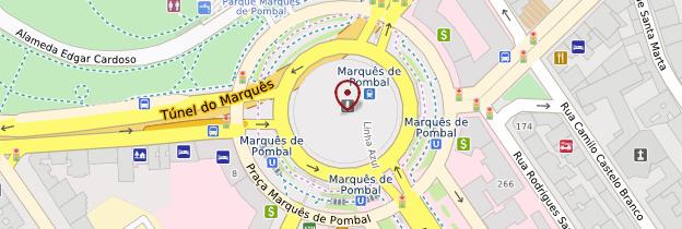 Carte Place Marques de Pombal - Lisbonne