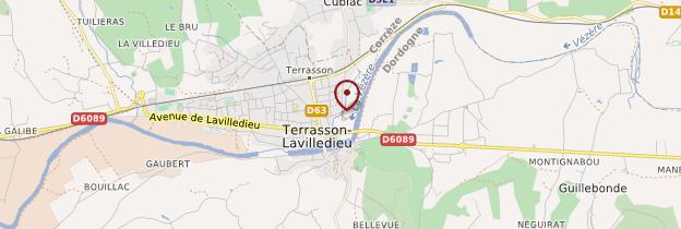 Carte Terrasson-Lavilledieu - Périgord - Dordogne