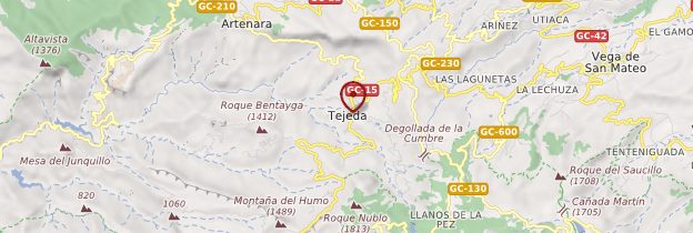 Carte Tejeda - Canaries