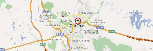 Carte Cáceres - Espagne