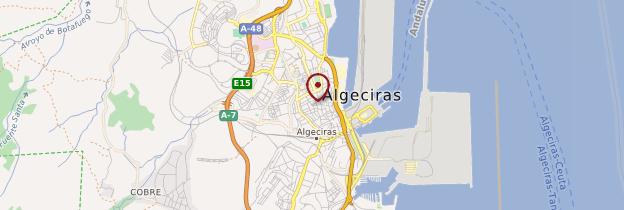 Carte Algeciras (Algésiras) - Andalousie