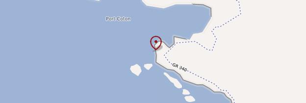 Carte Aiguilles de Port-Coton - Bretagne