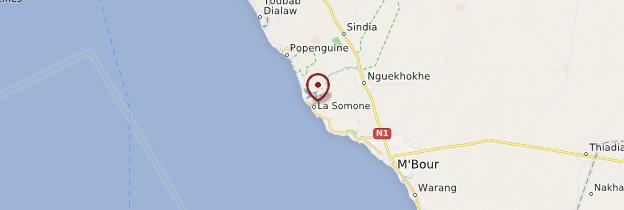 Carte Réserve naturelle de La Somone - Sénégal