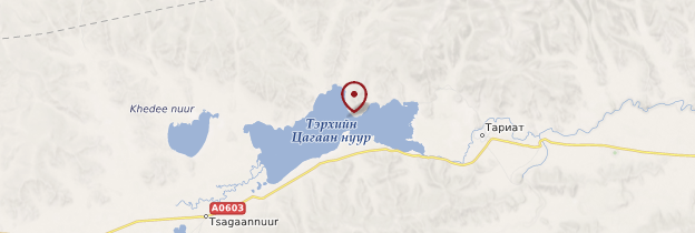 Carte Terkhiin Tsagaan Nuur - Mongolie