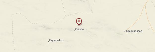 Carte Khongoryn Els - Mongolie