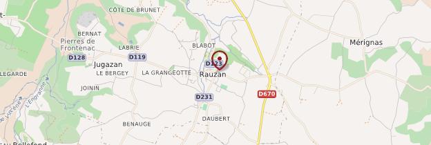 Carte Rauzan - Aquitaine - Bordelais, Landes