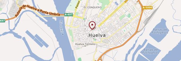 Carte Huelva - Andalousie